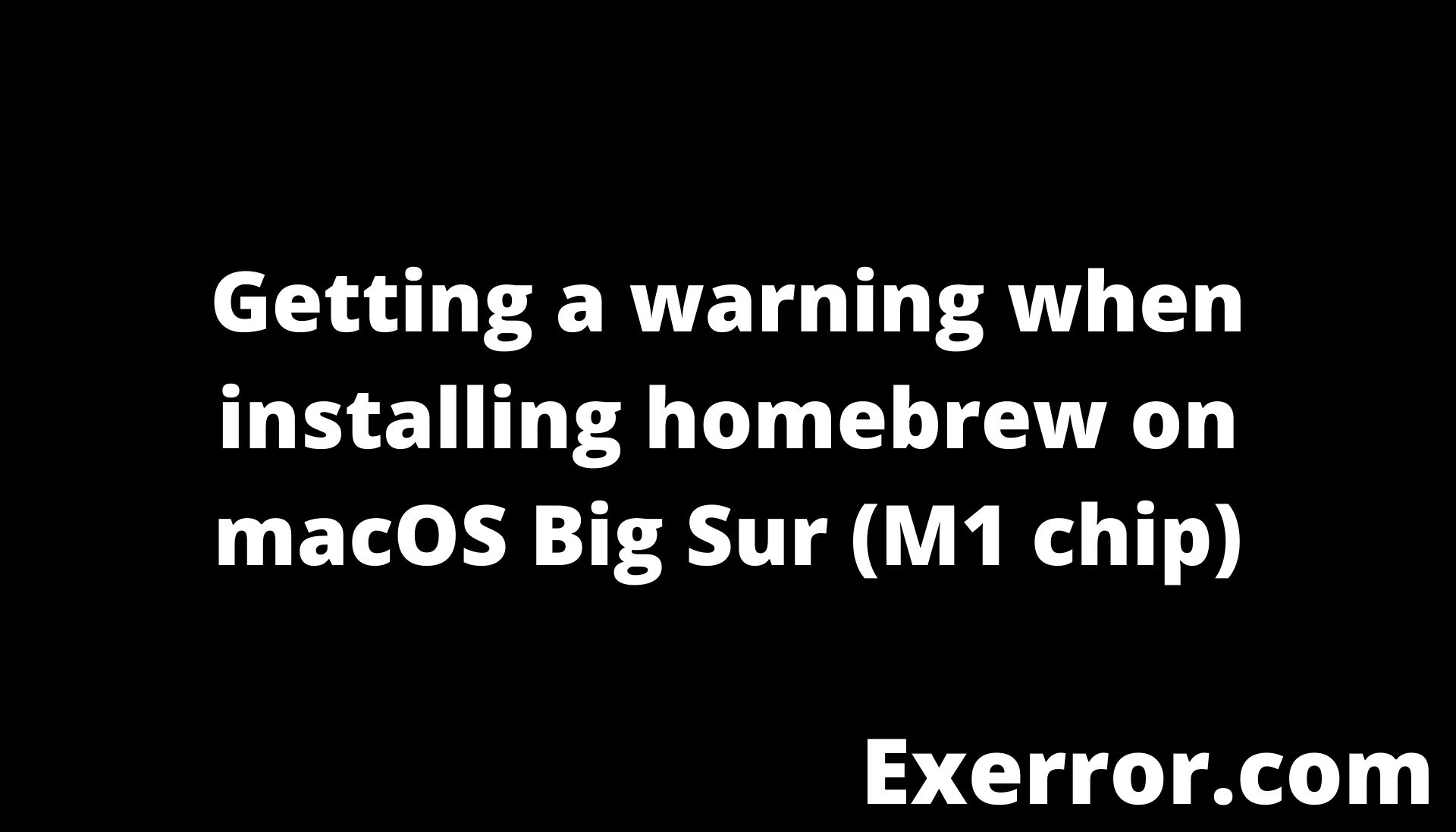 Getting a warning when installing homebrew on macOS Big Sur (M1 chip), Warning: /opt/homebrew/bin is not in your PATH.